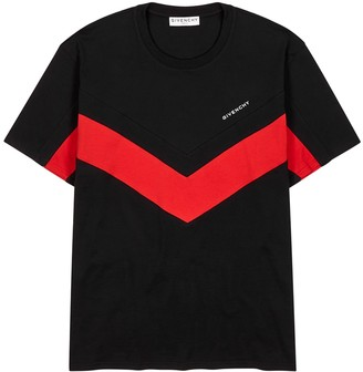 Givenchy Black panelled cotton T-shirt