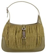 Gucci Pleated Textile Jackie Bag