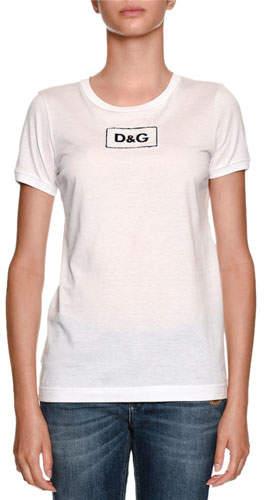 Dolce & Gabbana Crewneck Logo Cotton Jersey T-Shirt