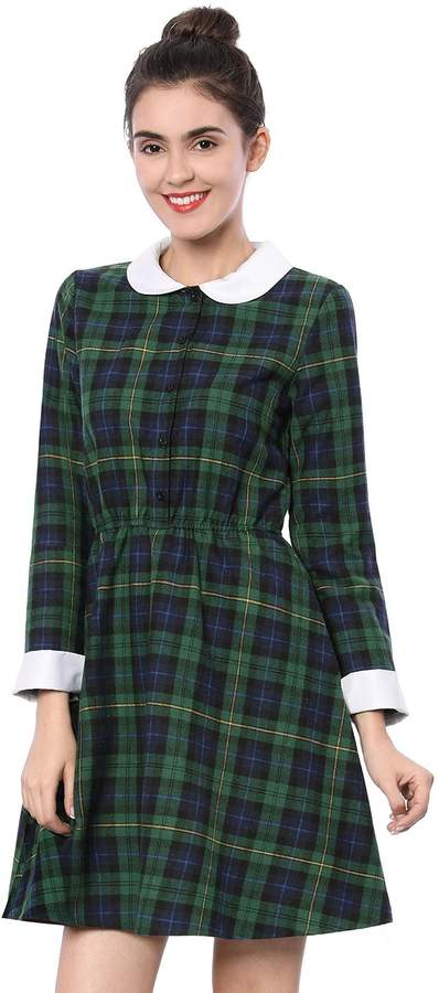 082912474cca56 Contrast Peter Pan Collar Dress - ShopStyle Canada