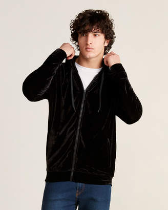 Versace Black Full-Zip Long Sleeve Hoodie