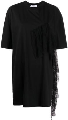 MSGM fringe-trim T-shirt dress