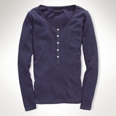 Long-Sleeved Henley Top