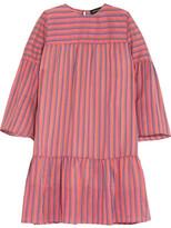 Vanessa Seward Danaide Striped Silk-jacquard Mini Dress - Pink