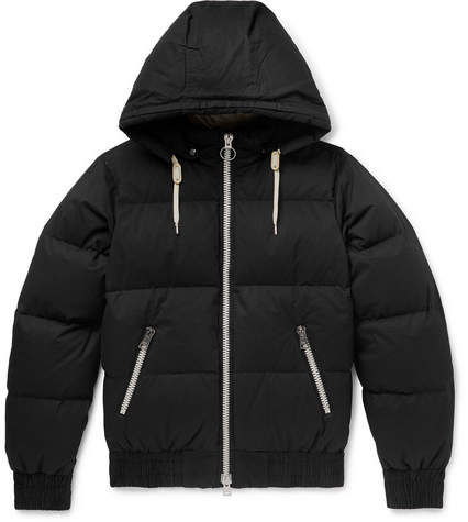 Ami Quilted Cotton-Shell Hooded Down Jacket