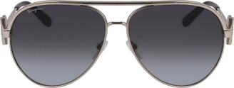 Salvatore Ferragamo 60mm Gradient Aviator Sunglasses