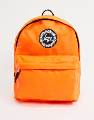 Hype backpack in fluro orange