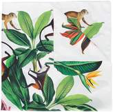 Oscar de la Renta jungle print twill scarf