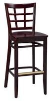 "Regal Beechwood Lattice Back Wood Seat Bar & Counter Stool Seat Height: Counter Stool (26"" Seat Height)"