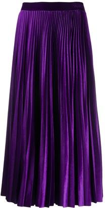 Valentino Accordion Pleat Skirt