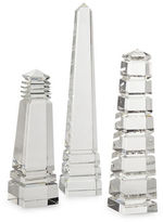 Twos Company Two'S Company Crystal Obelisks Set of Three