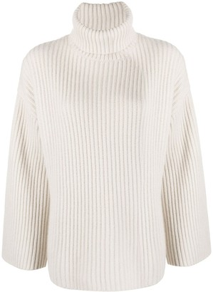 Allude Flared Sleeve Cashmere Jumper
