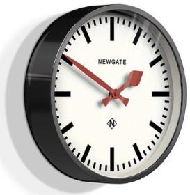 Newgate Black Luggage Clock - White/Black