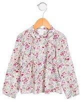 Jacadi Girls' Floral Print Long Sleeve Top