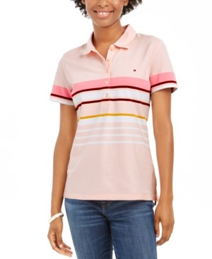 Tommy Hilfiger Striped Polo Top, Created for Macy's