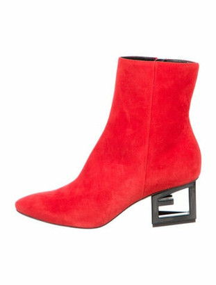 Givenchy Triangle Suede Boots w/ Tags Red