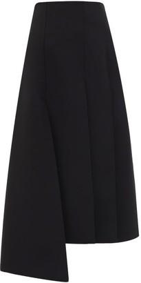 A.W.A.K.E. Mode Panelled Crepe Midi Skirt - Womens - Black