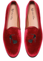 Del Toro Del Toro: Prince Albert Stiletto Slipper Loafers