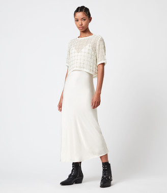 AllSaints Reille Grid 2-In-1 Dress