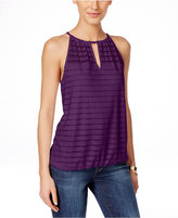 INC International Concepts Illusion Striped Halter Top, Only at Macy's