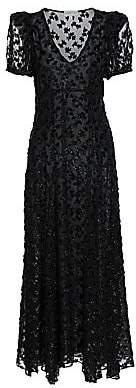 Black Iris Women's Daisy Sequin Leopard-Print Maxi Dress