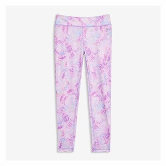 Joe Fresh Kid Girls' Print Active Legging, Purple (Size M)