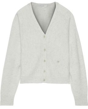 Joie Hadyn Marled Wool And Cashmere-blend Cardigan
