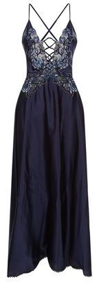 Marjolaine Coquine Embroidered Silk Nightdress