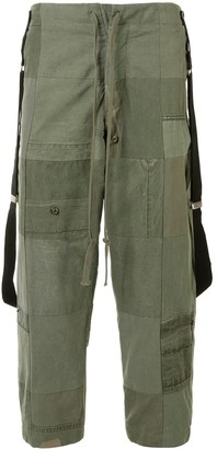Greg Lauren Patchwork Straight Leg Trousers