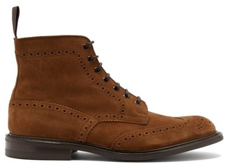 Tricker's Stow Lace-up Suede Ankle Boots - Tan