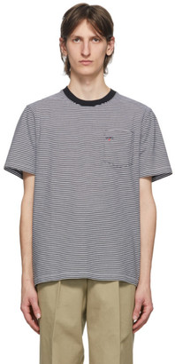 Noah NYC Black Stripe Pocket T-Shirt