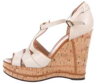 Chloé Cutout Wedges Sandals