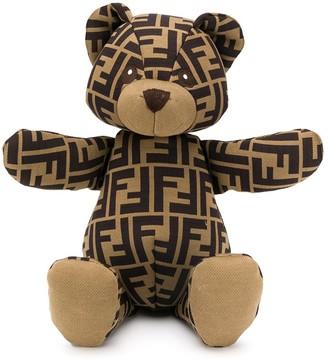 Fendi Kids Zucca pattern teddy bear