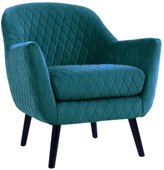 Darcy And Duke Club Chair Peacock With Black Legs