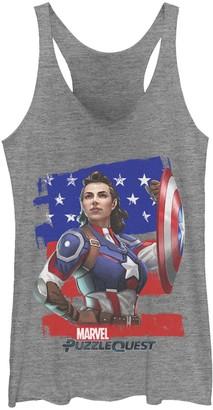 Marvel Juniors' Captain America Hero Peggie Graphic Tank