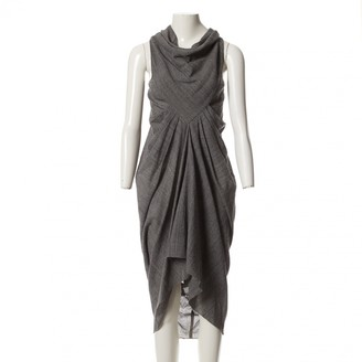Rick Owens Grey Wool Dresses