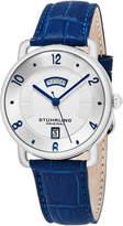 Stuhrling Original Men's Symphony Silver-Tone Dial Watch, 40mm