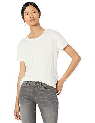 Goodthreads Washed Jersey Cotton Roll-Sleeve Open Crewneck T-ShirtXS