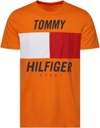 Tommy Hilfiger Ryan Short Sleeve Colorblock T-Shirt - Orange Peel