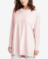 Lauren Ralph Lauren Twill-Front Sweater