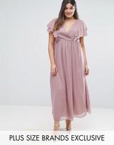 Truly You Frill Detail Chiffon Midi Dress