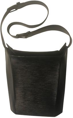 Louis Vuitton Bento Box Vintage Black Leather Handbags