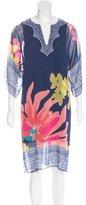 Trina Turk Chiffon Floral Print Dress