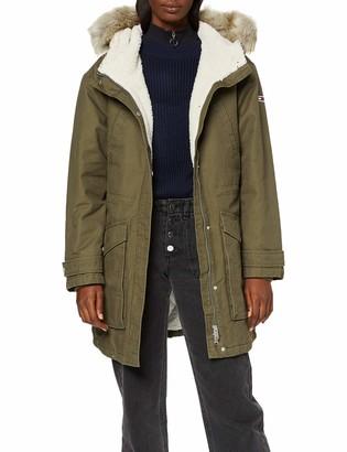 Tommy Jeans Women's Tjw Essential Lined Cotton Parka Jacket