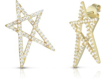 Sphera Milano 14K Gold Vermeil Pave CZ Star Earrings