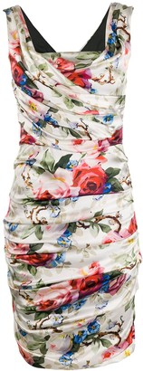 Dolce & Gabbana Pre-Owned 2000s ruched floral dress