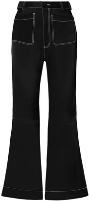 See by Chloe Satin-twill Flared Pants