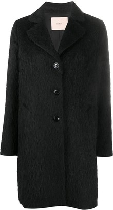 Twin-Set Fitted Single-Breasted Coat