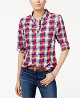 Tommy Hilfiger Roll-Tab Plaid Shirt, Only at Macy's