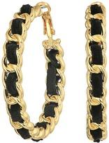 GUESS Frozen Chain Woven Hoop Earrings Earring